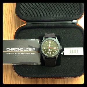 Chronologia Pilot Army Green Automatic Watch